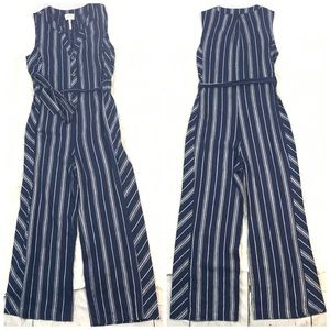 Laundry by Shelli Segal Navy Linen Jumpsuit NWOT